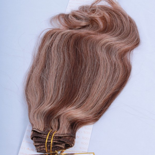 CLIP EXTENSION x9 BANDS - 50 cm-P6.27-HONEY FROSTED DARK BLOND